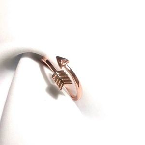925 Sterling Silver Rose Gold Arrow Ring